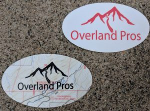 Overland Pros Sticker Small Round